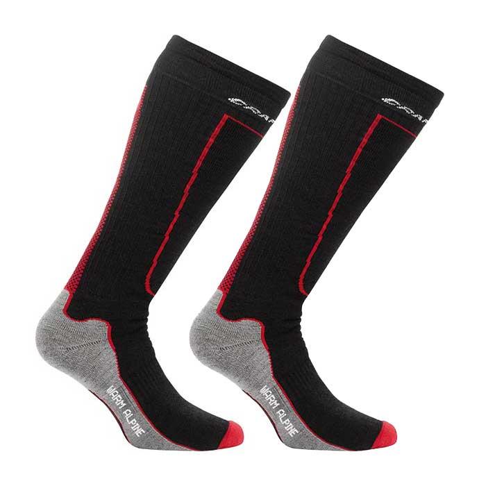 Craft Warm Alpine - ponožky Barva: black, Velikost: 46-48