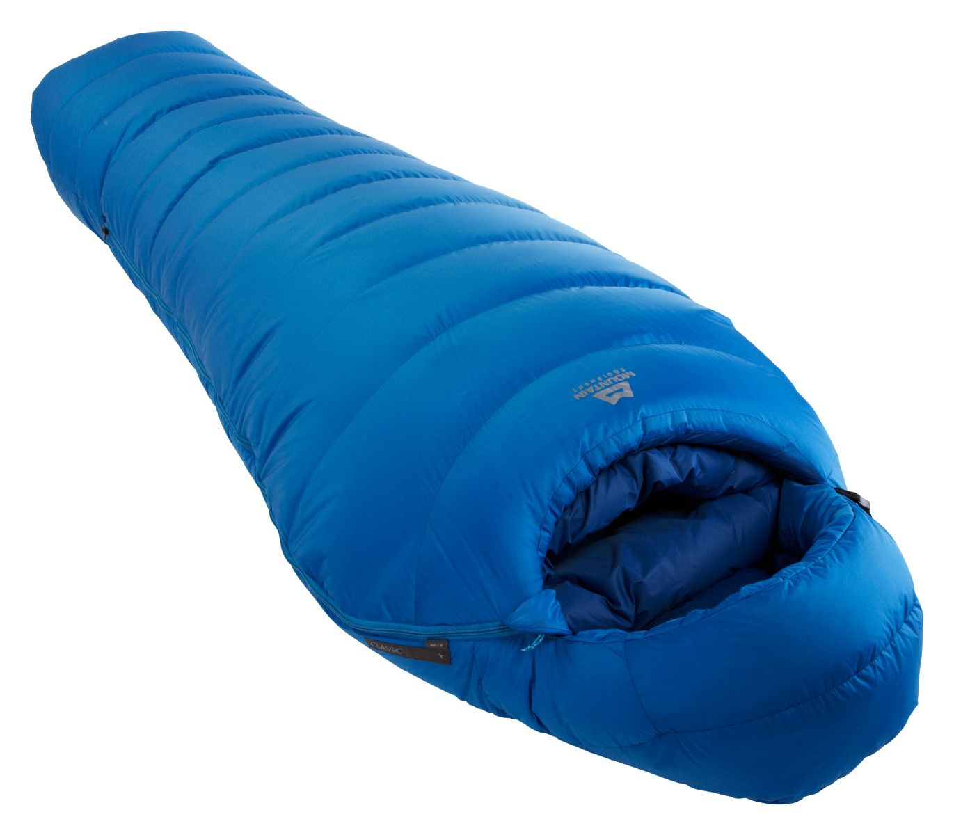 Mountain Equipment Classic 1000 - péřový spacák Barva: skydiver, délka: regular, Zip: pravý + prodloužená záruka
