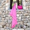 softfibre travel towel pink lifestyle 1