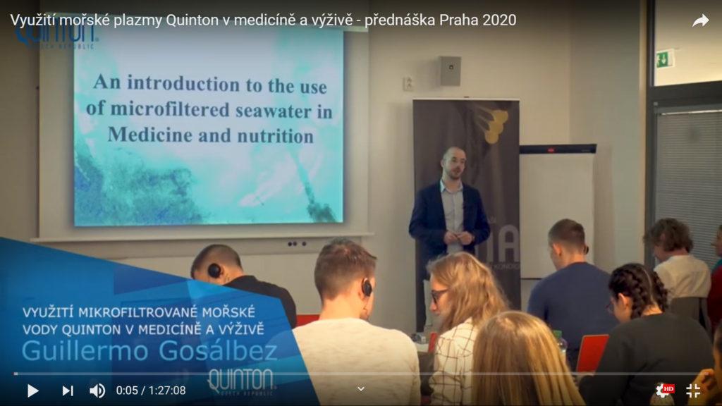 Přednáška o mořské plazmě v Biocevu ve Vestci u Prahy 20.1.2020