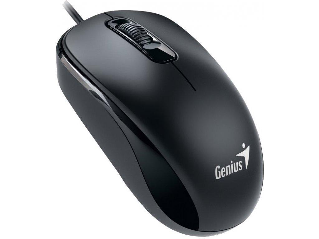 GENIUS myš DX 110, USB drátová, 1000dpi, černá