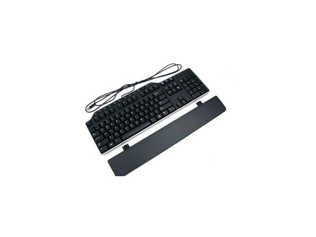 Klávesnice DELL drátová, černá, multimediální, CZ, KB522