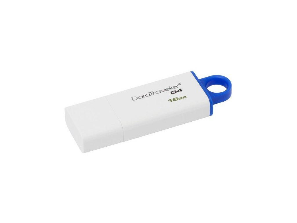 Flash disk Kingston DataTraveler G4, 16GB, USB 3.1,3.0,2.0, bílá