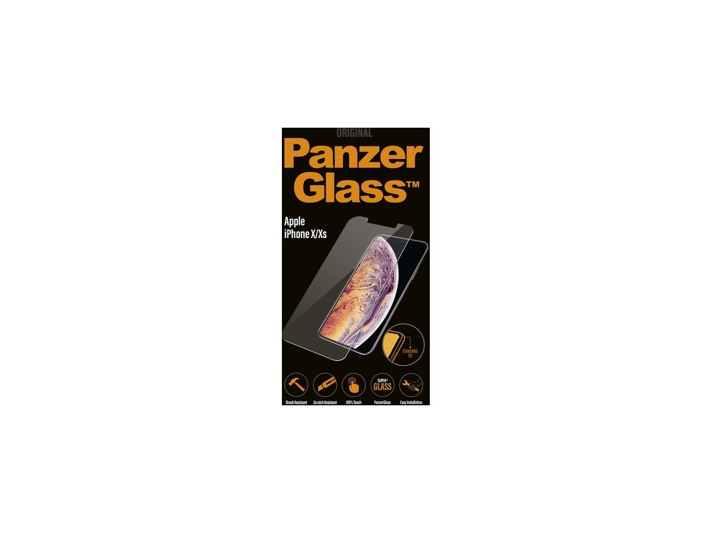 PanzerGlass iPhone X/Xs Black tvrzené sklo