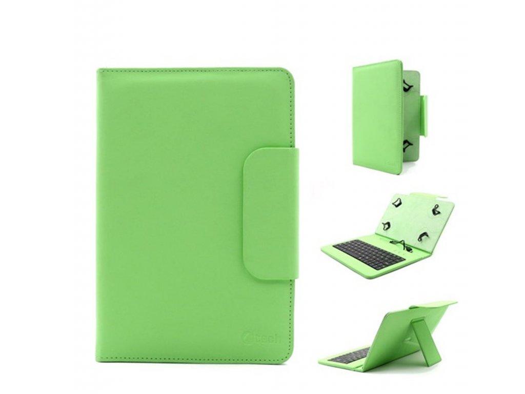 """C-tech deskové pouzdro a stojánek na tablet 7"""" - 7,85"""" s klávesnicí, zelené"""