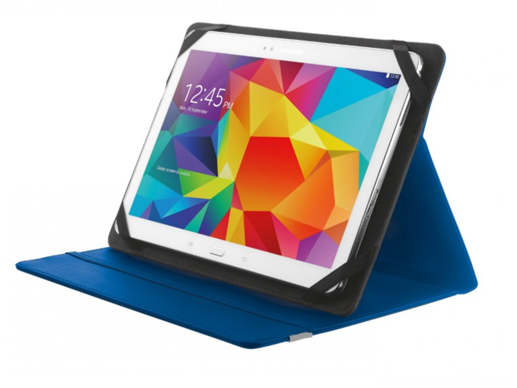 """Trust Urban deskové pouzdro a stojánek na tablet 10,1"""", modré"""
