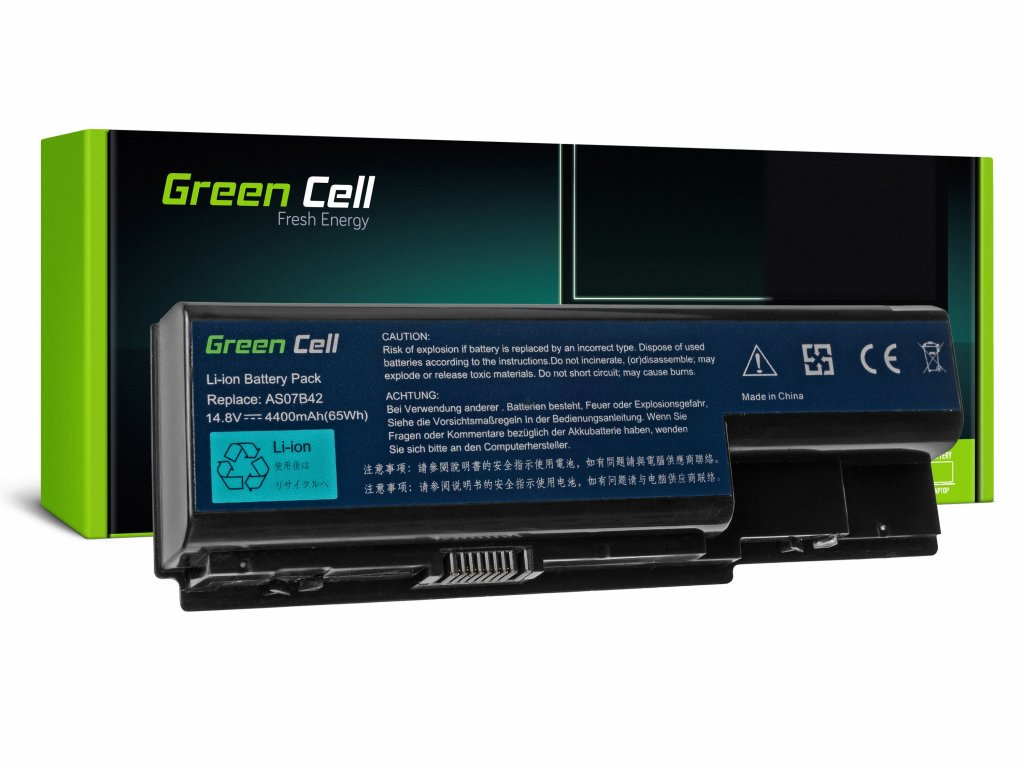 Baterie pro Acer Aspire 5520 AS07B31 AS07B32 / 14,4V 4400mAh