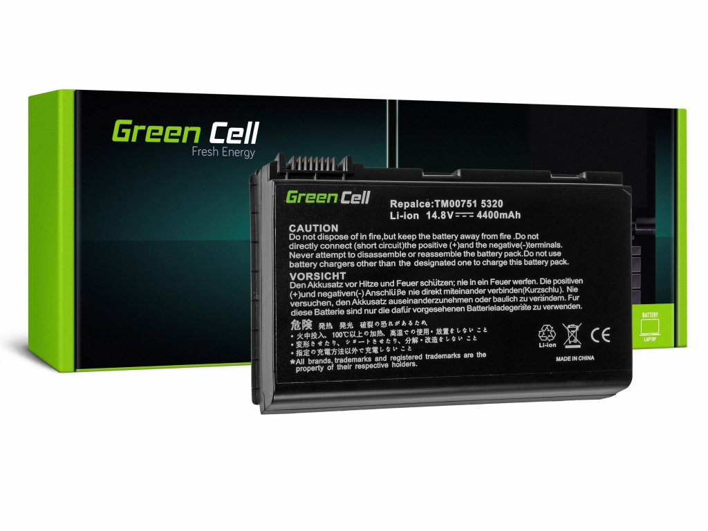 Baterie Acer TravelMate 5220 5520 5720 7520 7720 / 14,4V 4400mAh