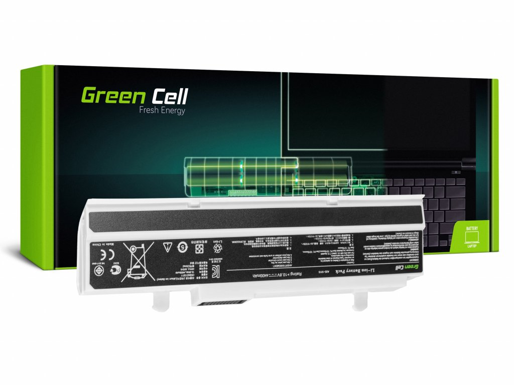 Baterie pro Asus Eee-PC 1015 1215 1215N 1215B (white) / 11,1V 4400mAh