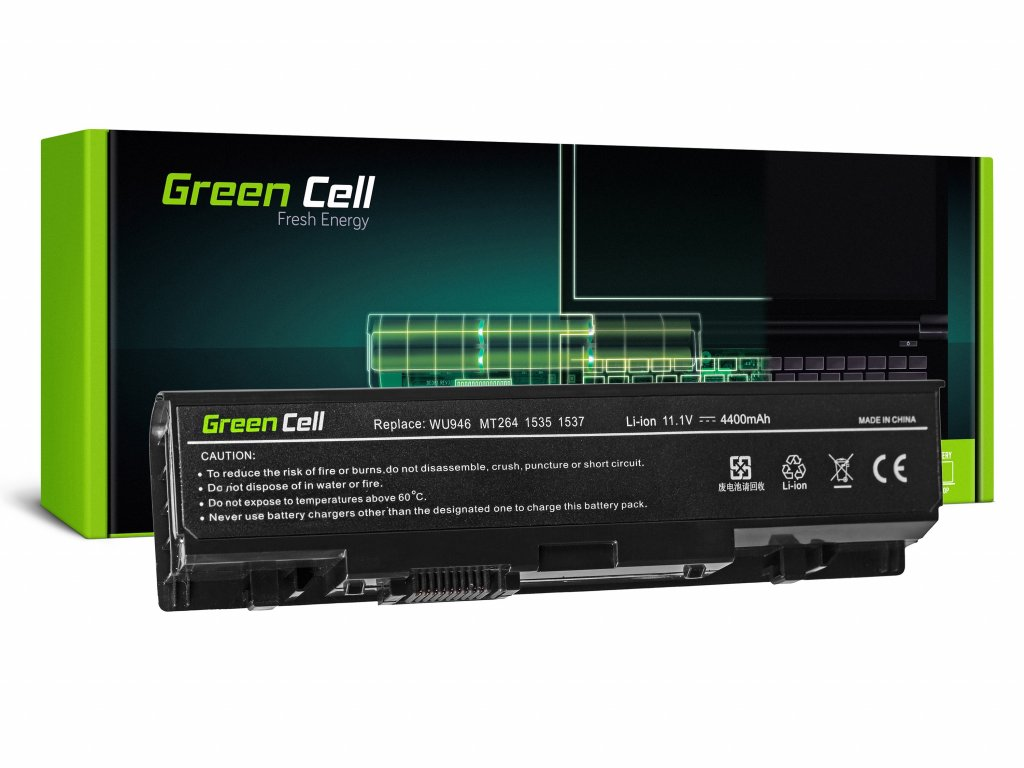 Baterie pro Dell Studio 15 1535 1536 1537 1550 1555 1558 / 11,1V 4400mAh
