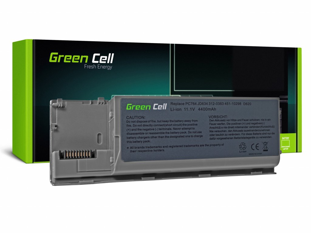 Baterie pro Dell Latitude D620 D630 D630N D631 / 11,1V 4400mAh