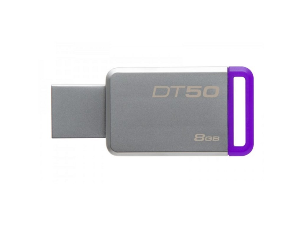 KINGSTON DT-50, USB 3.0, 8 GB, fialová