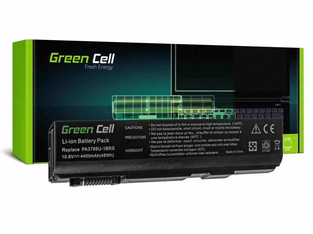 Baterie pro Toshiba DynaBook Satellite L35 L40 L45 K40 B550 Tecra M11 A11 S11 S500 / 11,1V 4400mAh