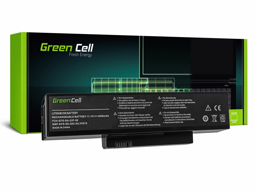 Baterie pro Fujitsu-Siemens Esprimo V5515 V5535 V5555 V6515 V6555 / 11,1V 4400mAh