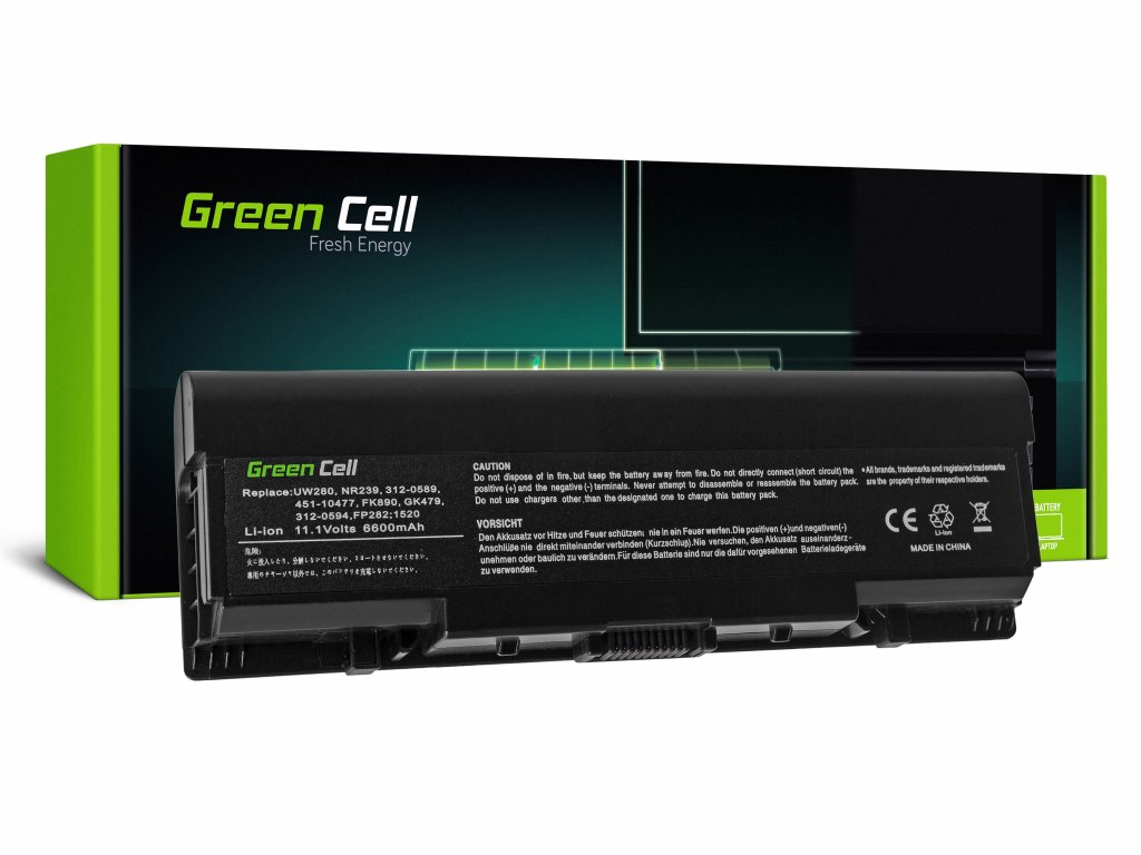 Baterie pro Dell Inspiron 1500 1520 1521 1720 Vostro 1500 1521 1700L / 11,1V 6600mAh