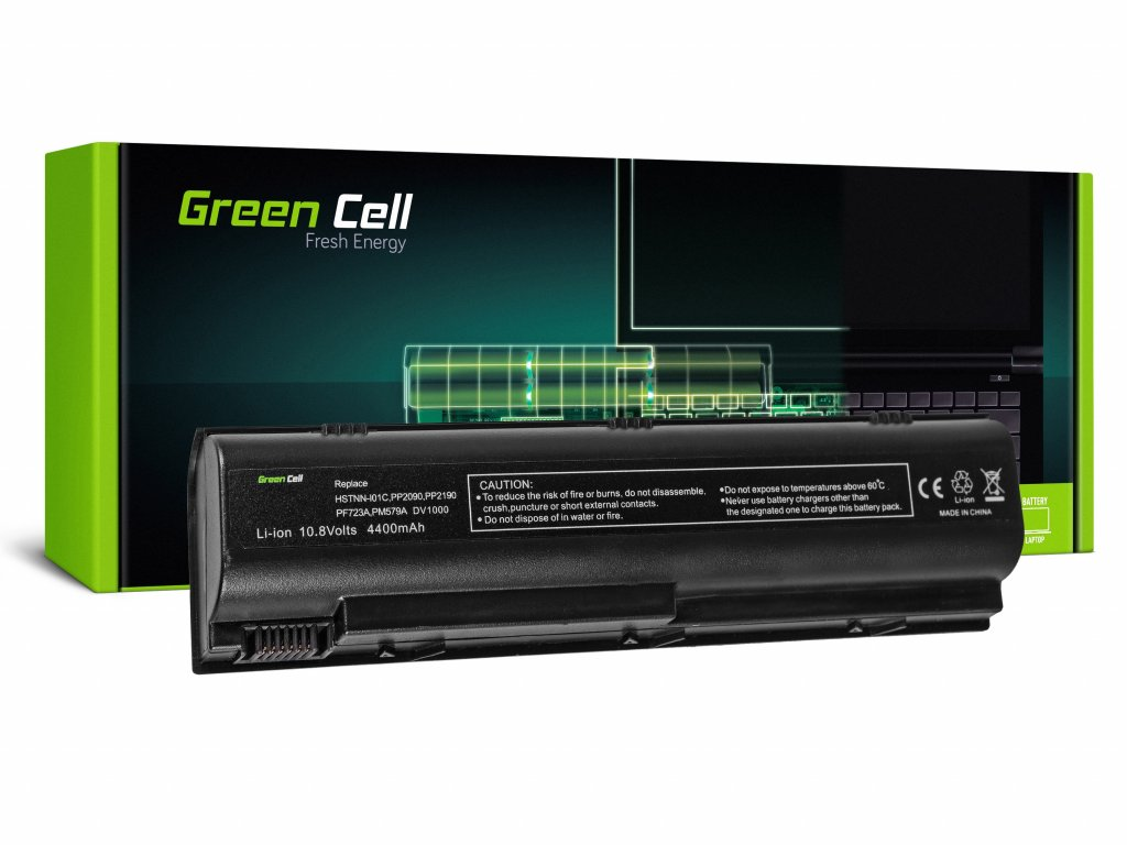 Baterie pro HP Pavilion DV1000 DV4000 DV5000 G1 / 11,1V 4400mAh