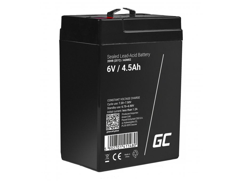 AGM Baterie 6V 4.5Ah