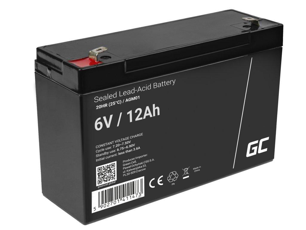 AGM Baterie 6V 12Ah