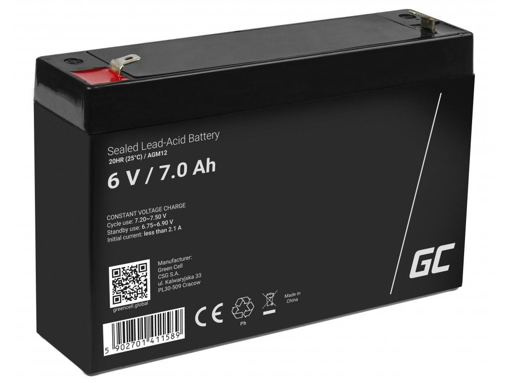 AGM Baterie 6V 7Ah