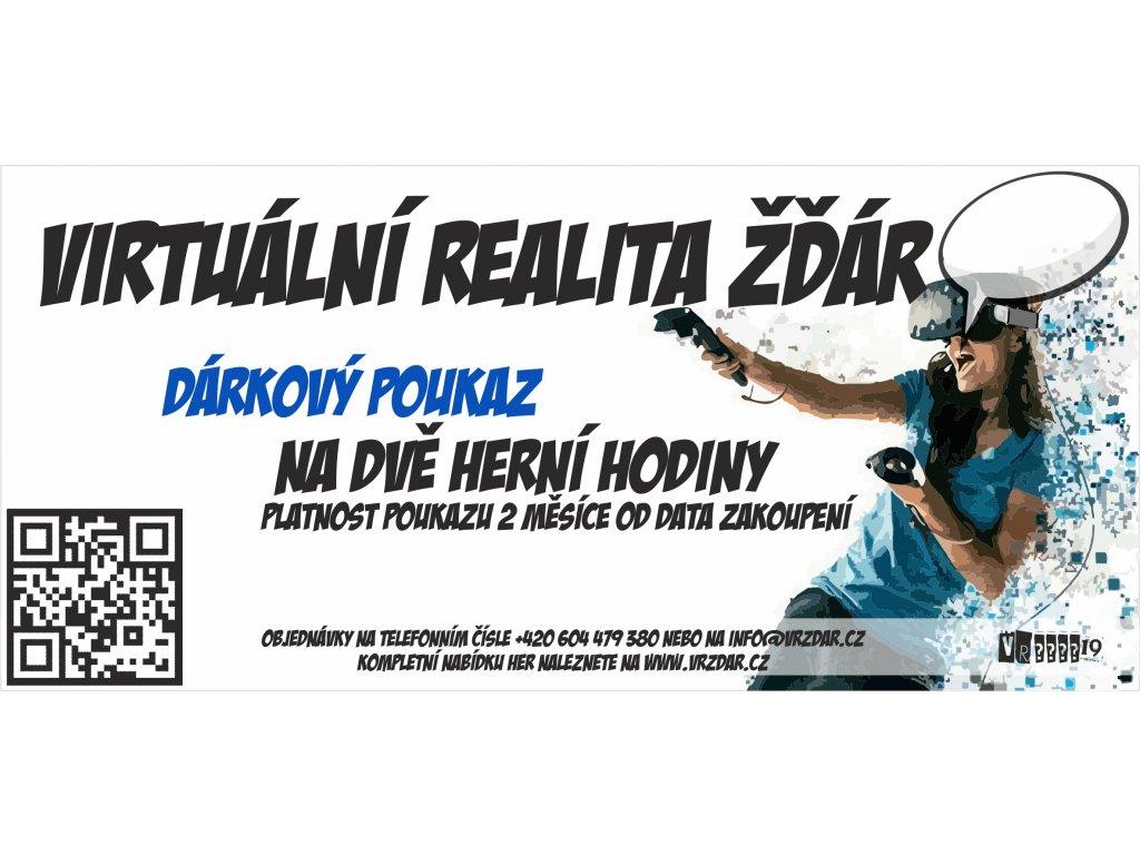 poukazy VR 2 hod