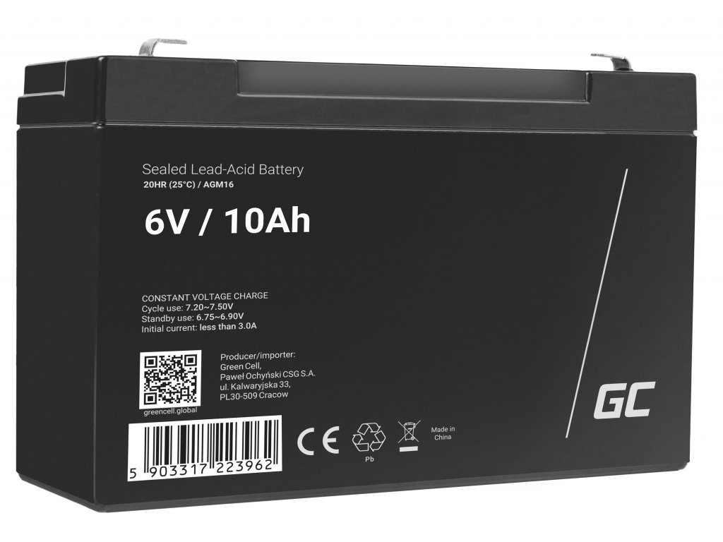 Baterie 6V 10Ah AGM