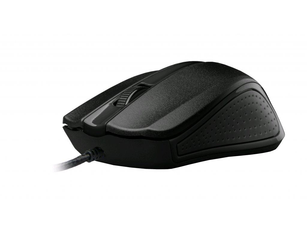 C-TECH WM-01, černá, drátová USB