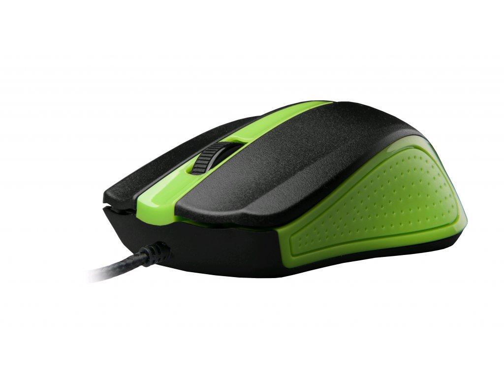 C-TECH WM-01, zelená, drátová USB