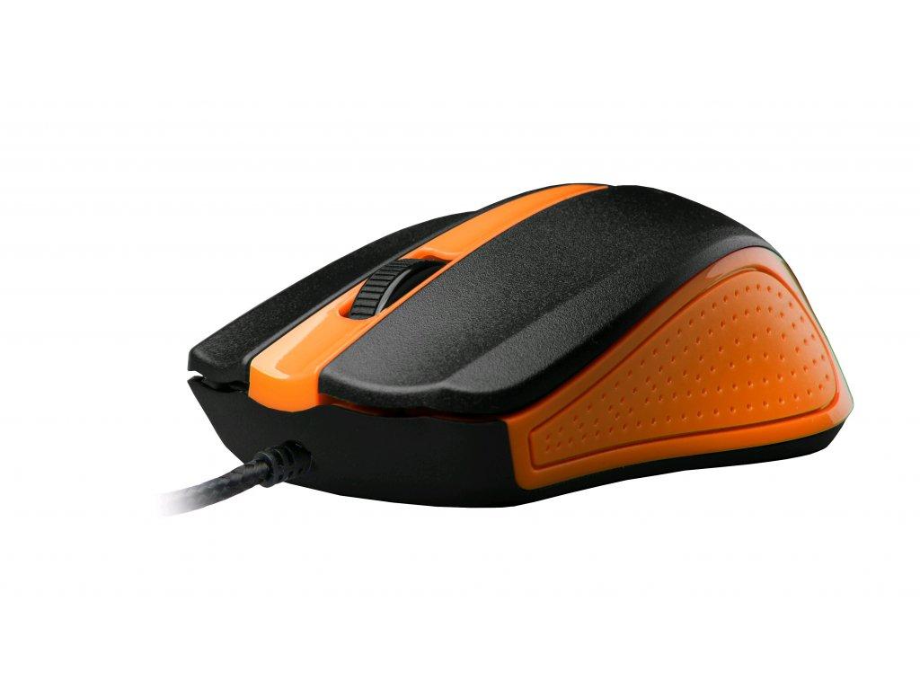 C-TECH WM-01, oranžová, drátová USB
