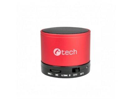 C TECH reproduktor SPK 04R bluetooth, červená