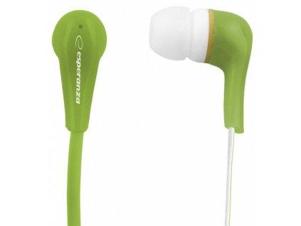 esperanza eh146g lollipop stereo sluchatka do usi zelena original