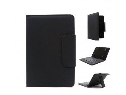 """C-tech deskové pouzdro a stojánek na tablet 7"""" - 7,85"""" s klávesnicí, černé"""