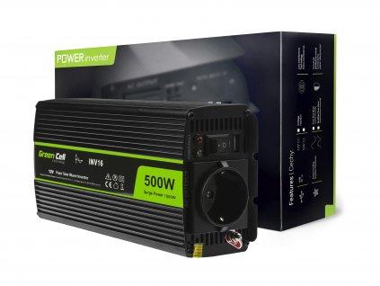 ® Voltage Auto Inverter 12V to 230V, 500W Full Sine Wave