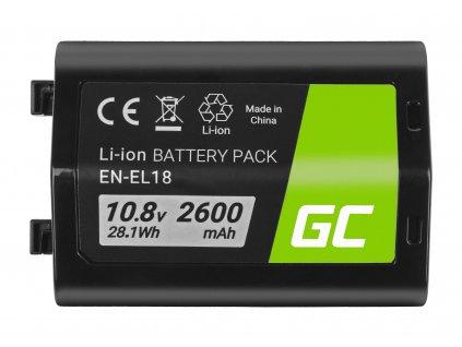 Baterie pro Nikon D4, D4S, D5 EN-EL18 ENEL18 10.8V 2600mAh