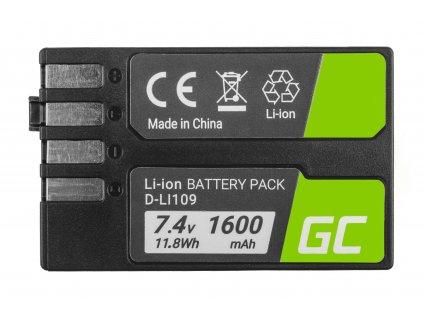 Baterie pro Pentax K-r, K-2, K-30, K-50, K-500, K-S1, K-S2 D-Li109 DLi109 7.4V 1600mAh