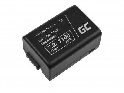 Baterie  ® DMW-BMB9 (Half-Decoded) do Panasonic Lumix DMC-FZ70, DMC-FZ60, DMC-FZ100, DMC-FZ40, DMC-FZ47 7.42 1100mAh