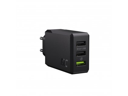 3-port charger GC ChargeSource3 3xUSB 30W s rychlé nabíjení Ultra Charge i Smart Charge