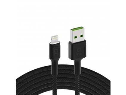Cable  Ray USB-A - Lightning White LED 200cm s podporou pro Apple 2.4A rychlé nabíjení