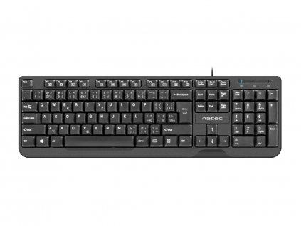 NATEC TROUT klávesnice Slim, USB, černá