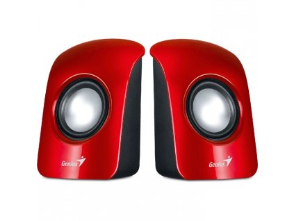 caixa de som genius 1 5w vermelha sp u115
