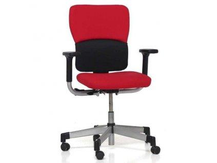 Kancelářská židle červená, SteelCase Lets B  OCELOVÝ ROŠT!