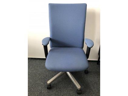 Kancelářská židle modrá, Hawort Comforto  OCELOVÝ ROŠT!