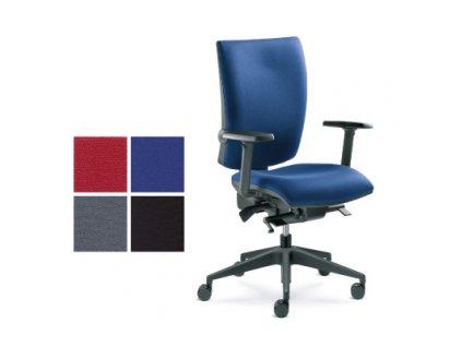 Kancelářská židle modrá, LYRA 235-S4  NYLONOVÝ ROŠT!