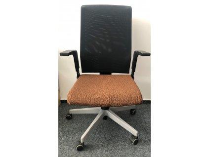 Kancelářská židle hnědá, LD Seating  HLINÍKOVÝ ROŠT!
