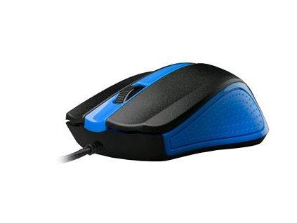 C-TECH WM-01, modrá, drátová USB