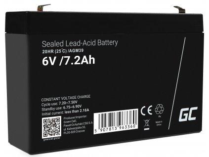 Baterie AGM VRLA  6V 7.2Ah