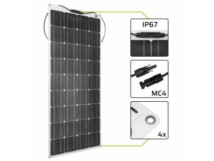 Flexible Solar panel Solar module  GC SolarFlex 100W / Monocrystalline / 12V 18V / ETFE / MC4