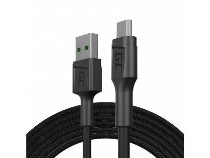 Kabel USB-A - Micro USB 200cm, rychlé nabíjení Ultra Charge, QC 3.0