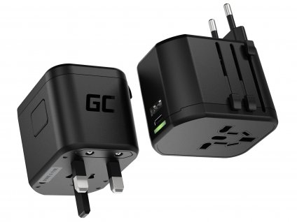 GC TripCharge PRO Universal Adapter s USB-A UC a USB-C PD 18W ports