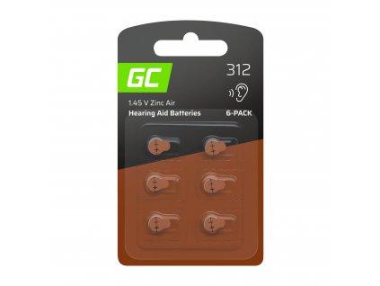 6x Baterie pro naslouchátko 312 P312 PR41 ZL3 ZincAir