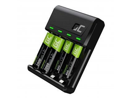 Set charger  GC VitalNabíječka a batteries 2xAA 2000mAh 2xAAA 800mAh